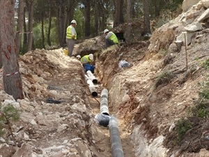 En total se han instalado 52 metros de tubería