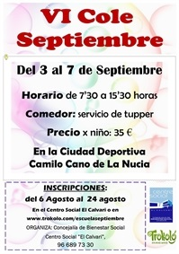La Nucia Cartel Cole Sep 2018