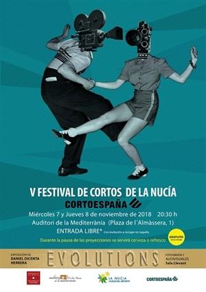 Cartel de la V edición del Festival de Cortos La Nucía
