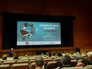 Francesc Sempere, director de l'Auditori, en la apertura del V Festival de Cortos de La Nucía