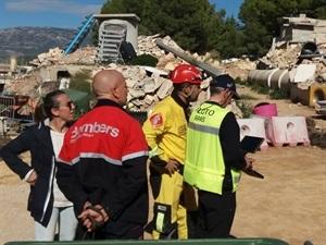 El Consorcio de Bomberos de Alicante entrenó en el Campo de Entrenamiento de Perros de Rescate de La Nucía