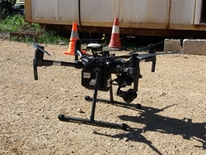 Los ejercicios se completaron con el Dron de la Unidad de Emergencias 112 y un piloto RPAS