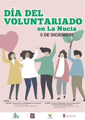 Cartel de la conmemoración del Día Internacional del voluntario en La Nucía