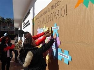El mural representa la importancia del trabajo en equipo