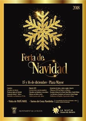 Cartel de la VIII Feria de Navidad de La Nucía