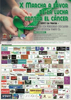 La Nucia Cartel Marcha Cancer 2019
