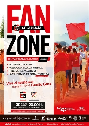 CF La Nucia vs Linares fiesta fan zone 2019